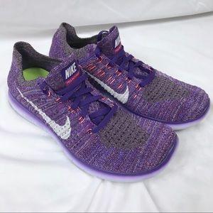 NIKE Free RN Flyknit Purple Women's 10